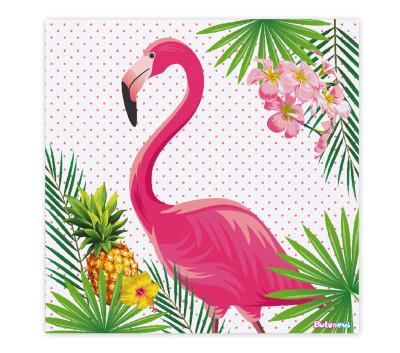 Diğer - Flamingo Temalı Çift Katlı 16lı Parti Peçetesi