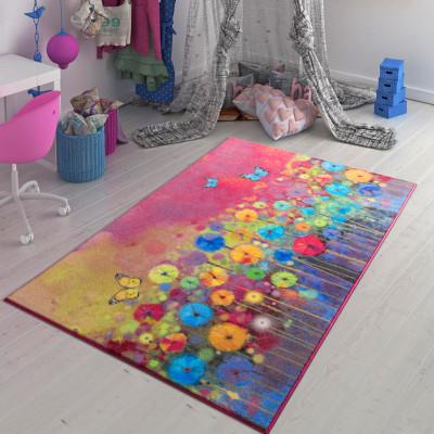 Confetti - Flower Field Tasarım Genç Odası Halısı 133x190cm