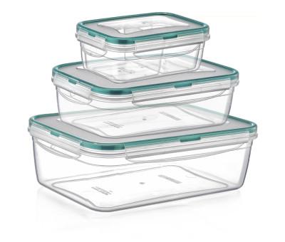 Diğer - Fresh Box Kilitli Kapaklı Saklama Kabı 3lü Set