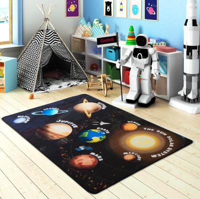 Diğer - Gezegenler Kaymaz Taban Çocuk Odası Oyun Halısı 100x150cm