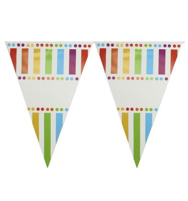 Diğer - Gökkuşağı Renkleri Temalı Üçgen Flama Bayrak