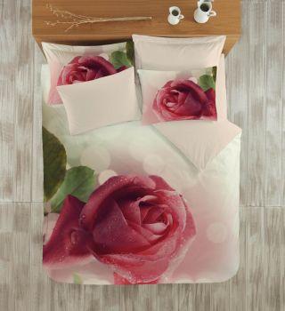 Gökyüzü Elegant 3d Çift Kişilik Nevresim Takımı Rose