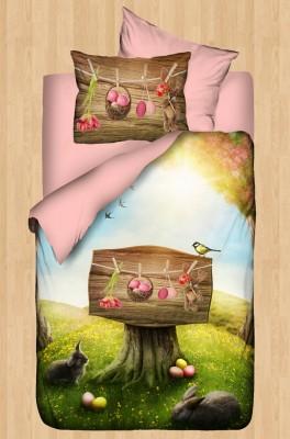 Diğer - Gökyüzü Elegant 3d Orman Baskılı Bebek Uyku Seti