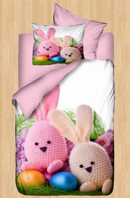Diğer - Gökyüzü Elegant 3d Örme Tavşanlı Bebek Uyku Seti