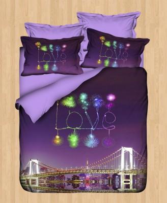 Gökyüzü - Gökyüzü Elegant 3D Saten Nevresim Takımı Çift Kişilik Love