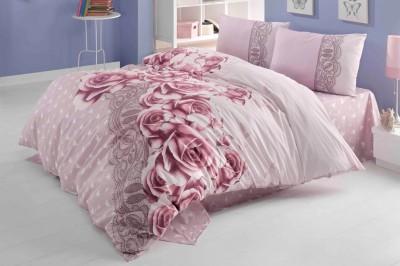 Diğer - Gökyüzü Elegant Roselace Çift Kişilik Pamuklu Nevresim Takımı
