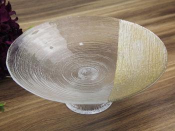Gold Detaylı Helezon Ayaklı Meyvelik Derin Tabak 30cm