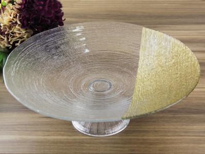 Diğer - Gold Detaylı Helezon Ayaklı Meyvelik Derin Tabak 40cm