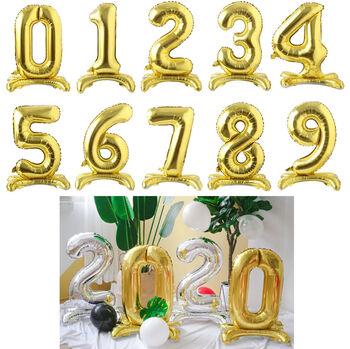 Gold Renkli Ayaklı Folyo Balon Rakamlar