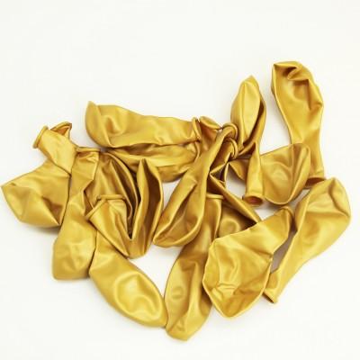 Diğer - Gold Renkli Metalik Süsleme ve Parti Balonu 20li