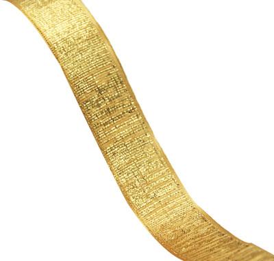 Diğer - Gold Zebra Desenli Parlak Kurdele Sarı 25mmx20mt