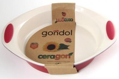 Gondol - Gondol Ceragon Seramik Kaplama Oval Pişirme Kalıbı 25,5x31cm.