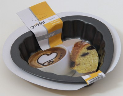 Gondol - Gondol Lovely Tekli Mini Kek Kalıbı Kalp 10cm.