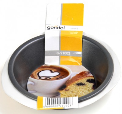 Gondol - Gondol Round Tekli Mini Kek Kalıbı Yuvarlak 10cm.