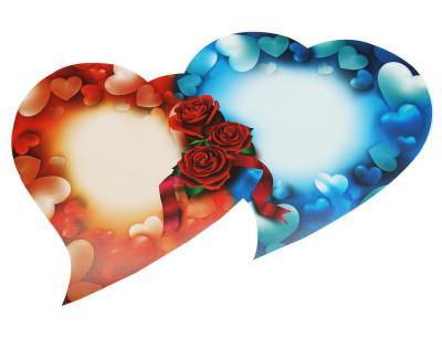 Diğer - Gül Baskılı Çift Kalp Harflik Gelin Arabası Süsü
