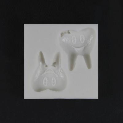 Diğer - Gülen İkili Diş Silikon Sabun ve Taş Kalıbı 4x4cm