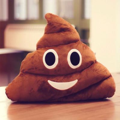 Diğer - Gülen Poo Emoji Yastık 36cm