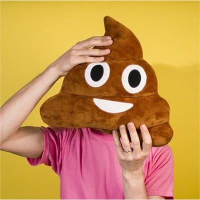 Gülen Poo Emoji Yastık 36cm - Thumbnail
