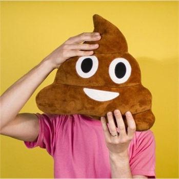 Gülen Poo Emoji Yastık 36cm