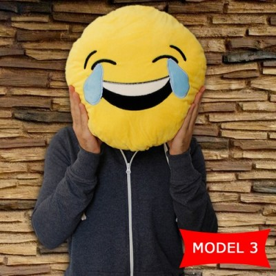 Diğer - Gülen Surat Smile Polar Elyaf Emoji Yastık