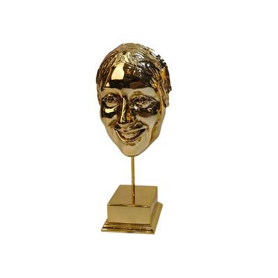 Diğer - Gülen Yüz Kaplama Dekoratif Biblo Gold