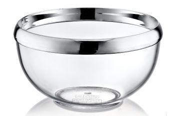 Gümüş Şerit Kenarlı Şeffaf Kase 1lt