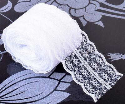 Diğer - Güpürlü Dantel Şerit Kurdele Süsleme Malzemesi Beyaz 4cmx20mt