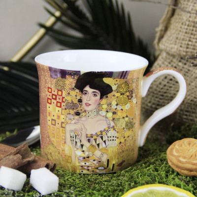 Diğer - Gustav Klimt Adele Bloch Bauer Çizimli New Bone China Kupa