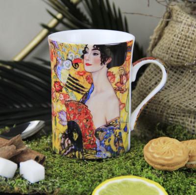 Diğer - Gustav Klimt Çizimli Özel Kutulu New Bone China Kupa