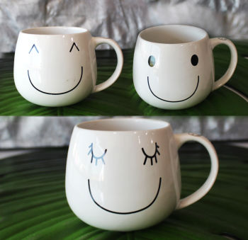 Happy Smile Yazılı Gülenyüz Kupa Bardak 7cm Asorti