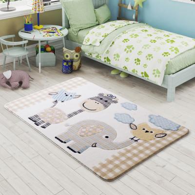 Diğer - Hayvanlar Alemi Çocuk ve Bebek Odası Halısı Bej 133x190cm