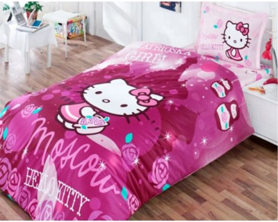 Diğer - Hello Kitty Moscow Tek Kişilik Pamuklu Nevresim Takımı