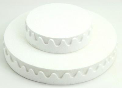 Diğer - İki Katlı Pasta Şeklinde Köpük Şeker ve Kurabiye Standı Beyaz