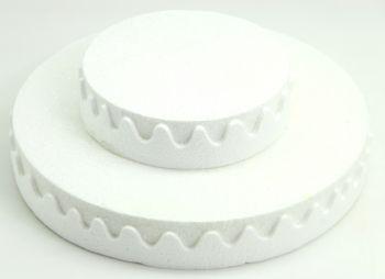 İki Katlı Pasta Şeklinde Köpük Şeker ve Kurabiye Standı Beyaz