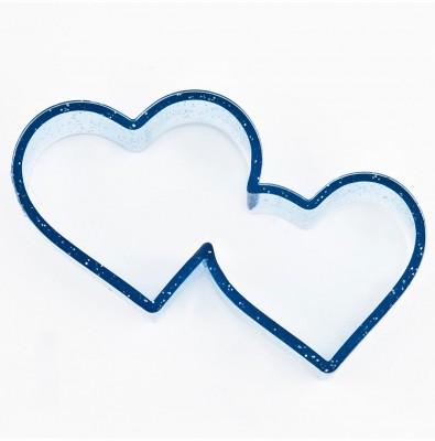 Diğer - İkili Kalp Polikarbon Kurabiye Kalıbı