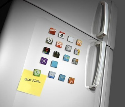 Diğer - iPhone App Magnet Seti