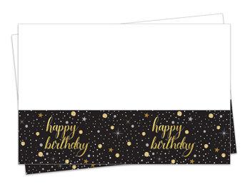 Işıltılı Görünen Happy Birthday Parti Masa Örtüsü 120x180cm
