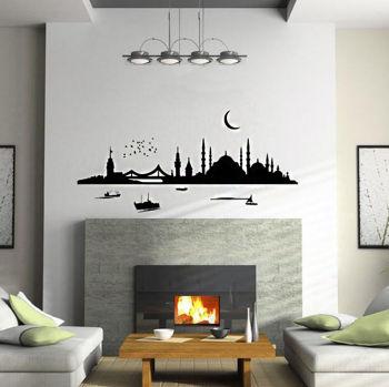 İstanbul Sabahı Duvar Sticker 100cm
