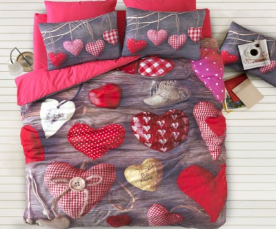 İyi Geceler İstanbul - İyi Geceler İstanbul 3D Valentine Üç Boyutlu Çift Kişilik Nevresim Takımı