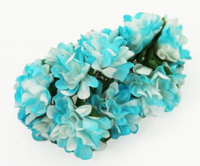 Diğer - Kağıt Çiçek Bebek ve Nikah Hediyelik Şeker Süsü Mavi