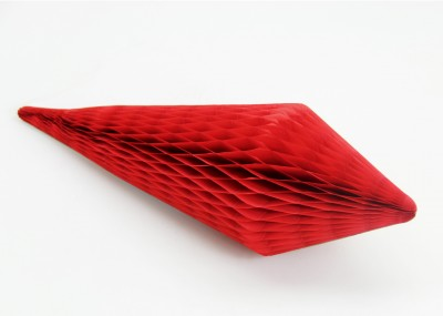 Diğer - Kağıt Petek Damla Süs 35cm Kırmızı