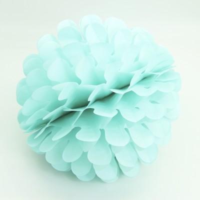 Diğer - Kağıt Top Petek Çiçek Süs 25cm Mint
