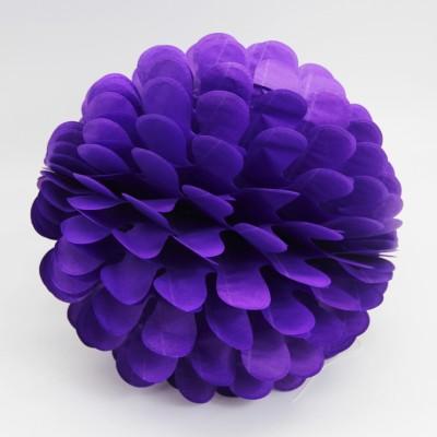 Diğer - Kağıt Top Petek Çiçek Süs 25cm Mor