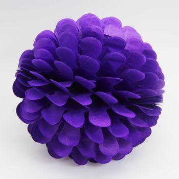 Diğer - Kağıt Top Petek Çiçek Süs 30cm Mor