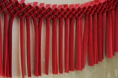 Diğer - Kağıt Uzar Saçaklı Süs 3m Kırmızı