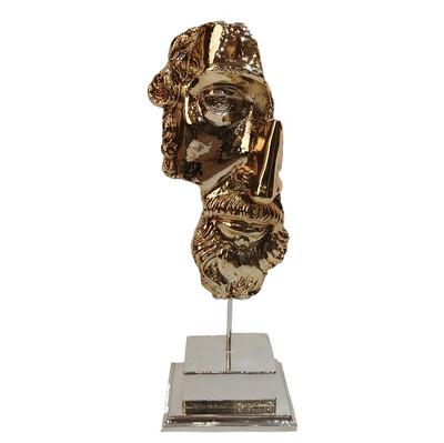 Diğer - Kaideli Zeus Kaplama Dekoratif Biblo 28cm Gold