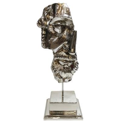 Diğer - Kaideli Zeus Kaplama Dekoratif Biblo 28cm Gümüş