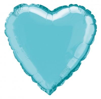 Diğer - Kalp Şeklinde Folyo Balon 40cm Bebek Mavisi
