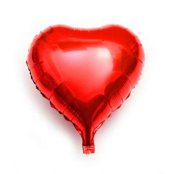 Kalp Şeklinde Folyo Balon 40cm Kırmızı