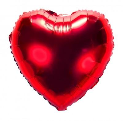 Kalp Şeklinde Folyo Balon 40cm Kırmızı - Thumbnail